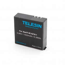 Аккумулятор Telesin для Xiaomi Yi 4К (вид спереди)