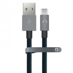 Кабель USB Type-C Snowkids 1.2м в оплётке (серый)