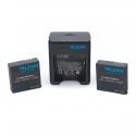 2 Telesin batteries + dual USB charger for Xiaomi Yi 4K set