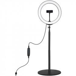 Кольцевая USB LED лампа Puluz 26 см на настольном креплении 25,5-140,7 см