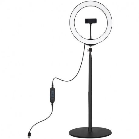 Кольцевая USB LED лампа Puluz 10,2'' (26 см) на настольном креплении 25,5-140,7 см, главный вид