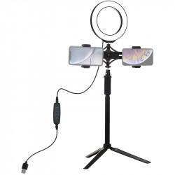Кольцевая USB LED лампа PULUZ 16 см на штативе 41-56 см
