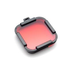 Красный подводный фильтр для GoPro HERO Session (крупный план)