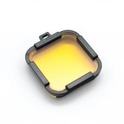 Желтый подводный фильтр для GoPro HERO Session (крупный план)