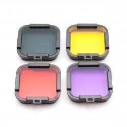 Набор подводных фильтров для GoPro HERO Session (полный) (четыре цвета)