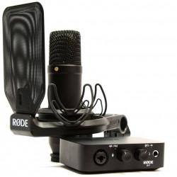 Студийный кардиодный микрофон RODE NT1+AI-1 в наборе с аудиоинтерфейсом RODE AI-1
