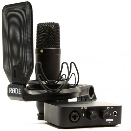 Студийный кардиодный микрофон RODE NT1+AI-1 в наборе с аудиоинтерфейсом RODE AI-1, главный вид