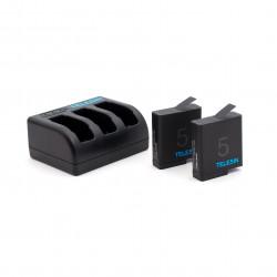 Комплект Telesin - зарядка + 2 батареи для GoPro HERO5 (вид сбоку)