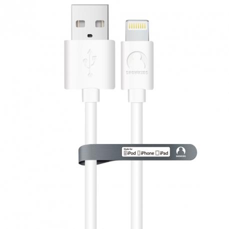 MFi кабель для iPhone/iPad Snowkids 3.0м (білий)