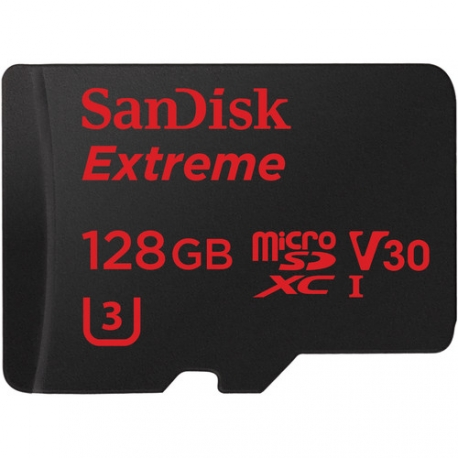 Карта пам'яті SanDisk Extreme MicroSDXC UHS-I 128GB для екшн-камер U3 600x