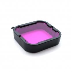 Фіолетовий підводний фільтр на Supersuit корпус GoPro HERO5 Black