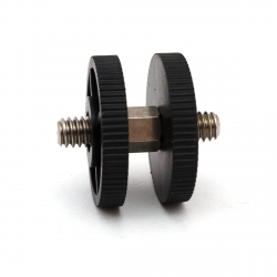 "Male 1/4"" to male 1/4"" adapter with nuts"