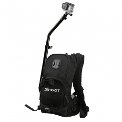Backpack Shoot with bar and mount for GoPro