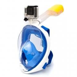 Полнолицевая маска для снорклинга L/XL с креплением для GoPro