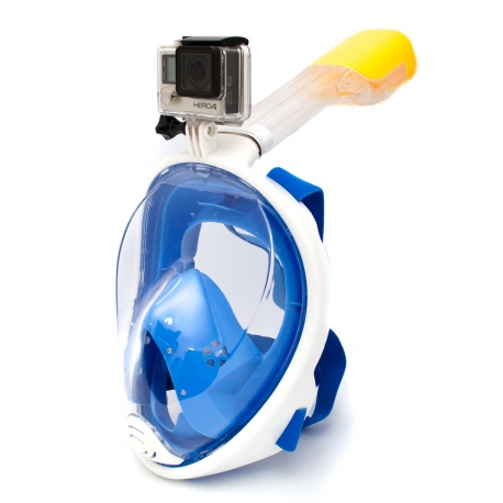 Полнолицевая маска для снорклинга с креплением для GoPro