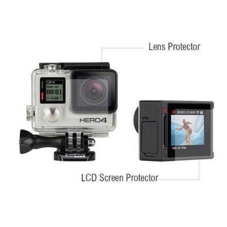 Защитная пленка для дисплея GoPro HERO4 Silver и стекла корпуса