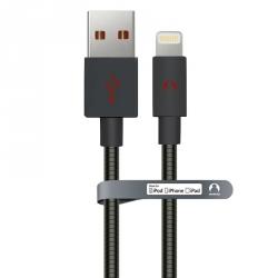 MFi кабель для iPhone/iPad Snowkids 1м в металевій оболонці