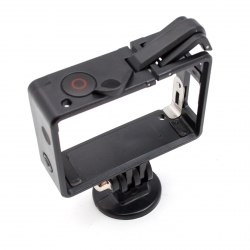Frame with button and lock for GoPro HERO3 and HERO4