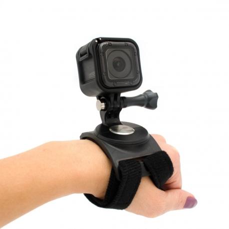 Rotating hand wrist leg mount for GoPro