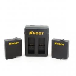 Комплект SHOOT - зарядка + 2 батареи для GoPro HERO6 и HERO5 Black
