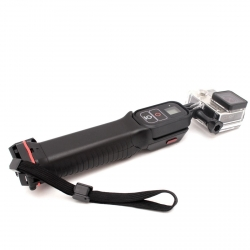 Diving monopod with GoPro remote mount