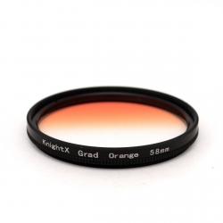 Оранжевый градиентный фильтр 58 мм