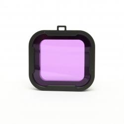 Фиолетовый подводный фильтр для GoPro HERO4 (крупный план)