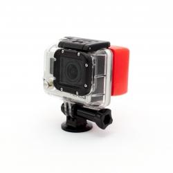 Крышка - поплавок для корпуса GoPro HERO3 (надета на GoPro)