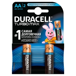 Batteries DURACELL AA LR06 MN1500 Turbo Max 2 pcs