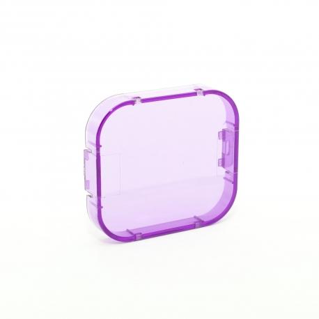 Фиолетовый фильтр для GoPro HERO3 (вид снизу)