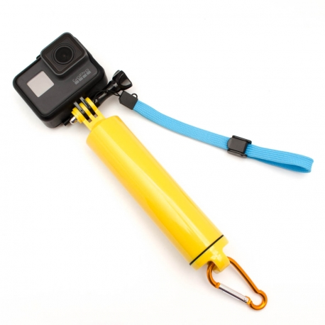Hollow floaty hand grip for GoPro