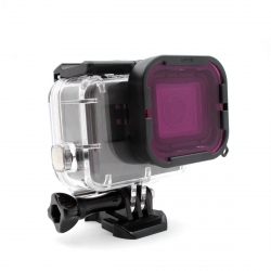 Magenta underwater filter for GoPro HERO6 and HERO5 Black Supersuit Housing