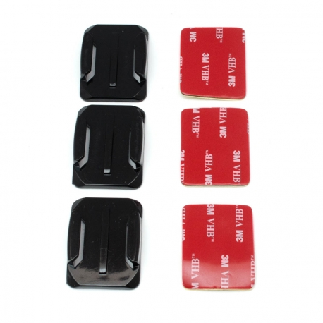 Set of curved adhesive mounts for GoPro