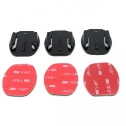 Flat adhesive mounts set for GoPro