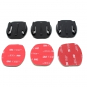Flat adhesive mounts set for GoPro