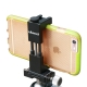 Metal mount for the phone to a monopod and a tripod with an adapter for a cold shoe