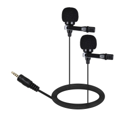 AriMic Dualmic lavalier microphone with 6 m cable