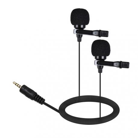Двойной петличный микрофон AriMic 3,5 мм с 6 м кабелем