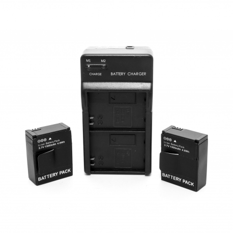 Комплект 2 батареї + подвійний зарядний пристрій для GoPro HERO3 (набір)
