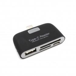 USB-C OTG cardreader for SD microSD USB