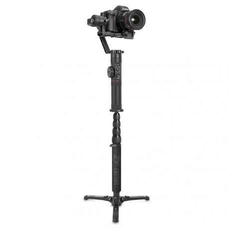 Zhiyun Crane 2 Monopod, with a camera
