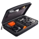 Кейс для экшн-камер большой SP POV GoPro-Edition Large, черный в раскрытом виде с наполнением
