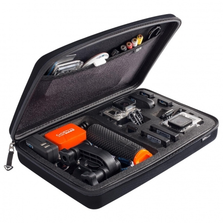 SP POV Case Large GoPro-Edition, black in expanded form with filling