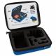 Кейс для екшн-камер маленький SP POV GoPro-Edition Small, блакитний у розкритому вигляді