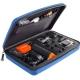Кейс для экшн-камер большой SP POV GoPro-Edition Large, голубой в раскрытом виде
