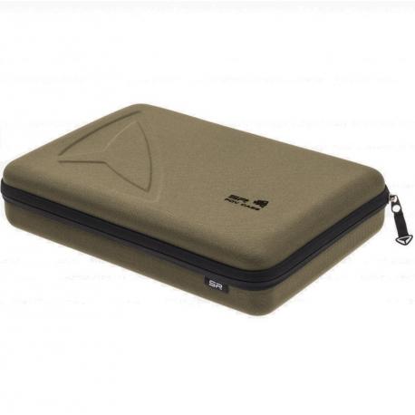 Кейс для экшн-камер большой SP POV GoPro-Edition Large, оливковый в закрытом виде