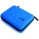 Кейс для екшн-камер маленький SP POV GoPro-Edition Small, блакитний у закритому вигляді