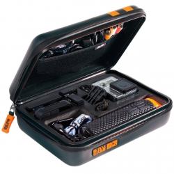 Кейс для екшн-камер водонепроникний SP POV Waterproof, у розкритому вигляді з наповненням