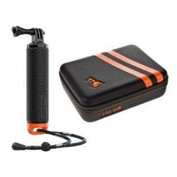 Водонепроникний кейс та монопод-поплавок для екшн-камер SP Gadgets Aqua Bundle, зовнішній вигляд