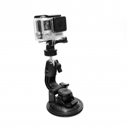 Крепление присоска на машину для GoPro (применение)
